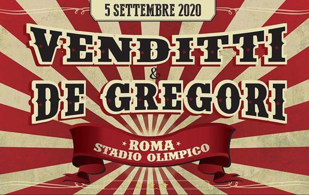 Venditti e De Gregori in concerto allo Stadio Olimpico di Roma nel 2020: data e biglietti
