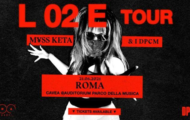 M¥SS KETA in concerto a Roma nel 2021: data e biglietti