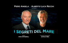 """Piero Angela e Alberto Luca Recchi a Roma nel 2022 con """"I segreti del mare"""""""